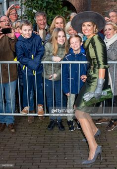 Queen Maxima of The Netherlands opens the exhibition Royal Paradise - Aert Schulman and the imagination of nature in the Dordrechts Museum on February 18, 2017 in Dordrecht, Netherlands.