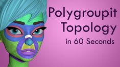 How to POLYGROUPIT for TOPOLOGY in Zbrush 2018 - 60 second tutorial