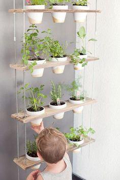 Hanging Herb Garden - 15 DIYs To Do Over Labor Day Weekend - Photos