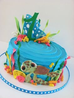 sea turtle birthday cake Cakes designs Pinterest Turtle