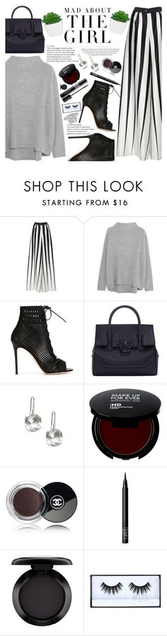 """Untitled #1998"" by anarita11 ❤ liked on Polyvore featuring Tome, Vince, Gianvito Rossi, Versace, Kershaw, Chanel, Christian Dior, NARS Cosmetics, MAC Cosmetics and Huda Beauty"