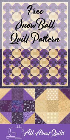 New Quilting Designs For Beginners Nine Patch 29 Ideas Beginner Quilt Patterns, Quilting For Beginners, Quilt Patterns Free, Quilt Tutorials, Free Pattern, Quilting Templates, Quilting Projects, Snowball Quilts, Modern Quilting Designs