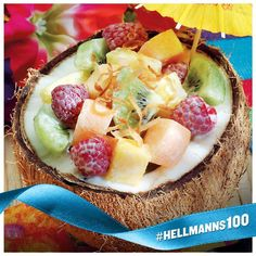 Bite into our delicious Coconut Grove Fruit Salad made with Hellmann's® Real Mayonnaise, sour cream and honey. Dessert Salads, Fruit Salad Recipes, Dessert Recipes, Fruit Salads, Fruit Dips, Fruit Tarts, Jello Salads, Passion Fruit Mousse, Healthy Granola Bars