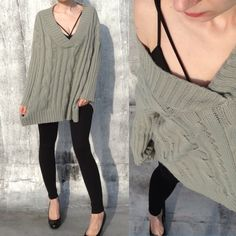 Loose fitting sweater. Loose fitting knit sweater in very good condition- gently worn. It looks like after regular wash. Washed only once. Korean Fashion. Sweaters V-Necks