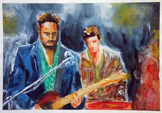 The frontman. Watercolor.
