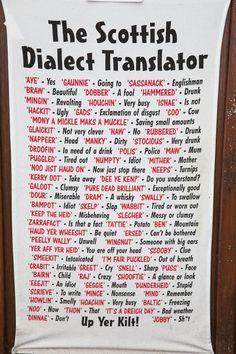 The Scottish Dialect Translator Scottish Words, Scottish Gaelic, Scottish Phrases, Edinburgh, Glasgow, Outlander, Gaelic Words, Gaelic Quotes, Free Genealogy Sites