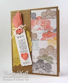 Just the Beginning   July 23, 2013 by Cindy Hall: Chalk Talk Stamp Set and Framelits Dies, Epic Day This and That DSP.