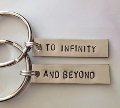"""Cheesy Cute Girlfriend Gifts: """"To Infinity"""" & """"And Beyond"""" Couples / Best Friends Keychains (set of by Dalilice Queen @ Etsy Bff Gifts, Best Friend Gifts, Your Best Friend, Cute Gifts, Gifts For Friends, Best Friends, Friendship Keychains, Friendship Crafts, Happy Friendship Day"""