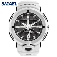 SALE US $19.99 - 2017  Men Watches New Style SMAEL Brand White Dual Digital Didaplay Sport Male Clock 50 Meters Waterproof Relogio Masculino 1637
