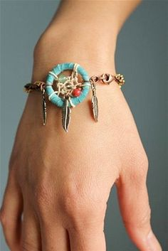 Catch all your fashion dreams with this Native American-inspired bracelet.