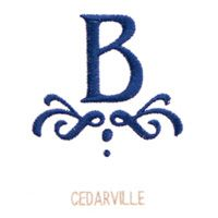 cedarville font style - monogram goods - for chair back
