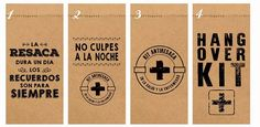 25 Bolsitas Kraft Madera Kit De Emergencia Antiresaca 9x19cm - $ 70,00