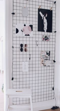 DIY Wandgitter - Pinnwand Gitter selber Maschen - Moodboard - Memo Board - DIY Möbel - Wanddekoration