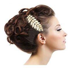 BIJOUX DE TETE MARIAGE FEUILLE LAURIER OR DEESSE GRECQUE coiffure