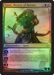 Journey into Nyx Planeswalker Foil Ajani, Mentor of Heroes