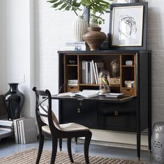 "LaCourte Upright Desk | Williams-Sonoma, 44 1/2"" x 19"" x 52"" high"