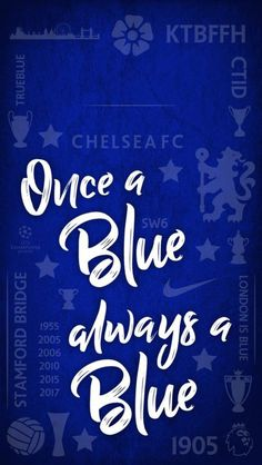 This Is A Different Visually Pleasing Wallpaper Because It Doesnt Have Players But Rather Saying Once Blue Always Which Nice Quote
