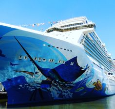 Floating Works of Cruise Ship Art are Big Hits on Social Media Cruise Insurance, Most Famous Artists, Norwegian Cruise Line, Ship Art, Travel Couple, Vacation Destinations, Detail, Social Media, Website