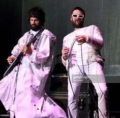 Sergio Pizzorno and Tom Meighan of Kasabian perform on stage at The O2 Arena on December 1, 2017 in London, England.