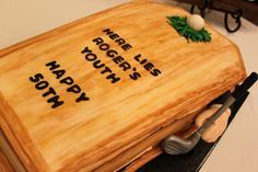 50th Birthday Cake Cake made by Sprinklebelle Cakes