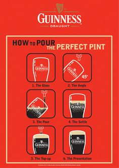 Hey, just because I don't like beer doesn't mean I don't want to learn how to pour the perfect pint of Guinness !