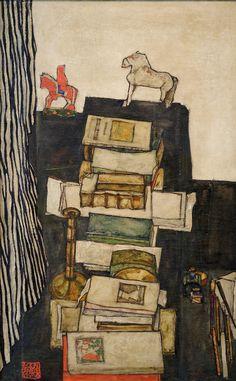 Egon Schiele. Schiele's Desk. 1914 ●彡
