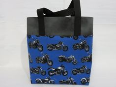 Motorcycle Kids Tote Motorcycle Library Bag by MaryMagicalMemories