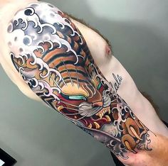 Beautiful japanese tiger sleeve. Style: Oriental. Tags: Cool, Nice, Beautiful