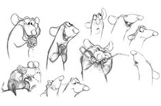 Living Lines Library: Ratatouille - Concept Art Disney Sketches, Disney Drawings, Cartoon Drawings, Animal Drawings, Pixar Concept Art, Disney Concept Art, Art Disney, Disney Kunst, Disney Pixar