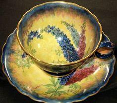 GRIMWADES RIDEAU DELPHINIUM simplyTclub Tea cup and saucer A/F