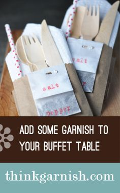 Keeping all the cutlery in one place makes going through the buffet line so much easier!