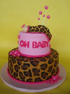 Leopard Print Baby Shower | ... baby shower cake here are some ideas for the most beautiful baby    luv it but w/out baby ontop