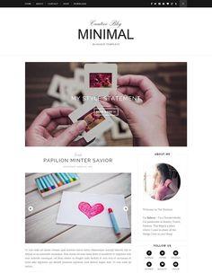 Creative Minimal Blogger Template Blogger Templates, Blog Design, Ecommerce, Minimalism, My Style, Creative, E Commerce