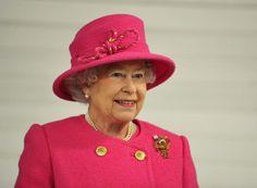 Queen in rose ensemble