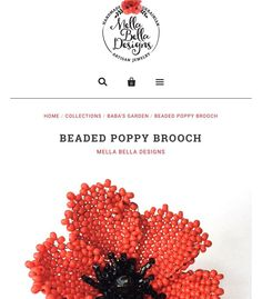 I have started receiving orders for my beaded poppy brooch so I figured it was time to add it to my on-line shop!  Would you like one too?  Visit http://ift.tt/1MLV9Y0 - and from now through Sunday use the code Insta20 to receive 20% off your purchase!  #mellabelladesigns #handmadejewelry #beadwork #beadedpoppy #buyhandmade #onlineshop