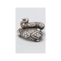 *Accessories Boutique The Snake Wrap Ring in Silver ($21) ❤ liked on Polyvore