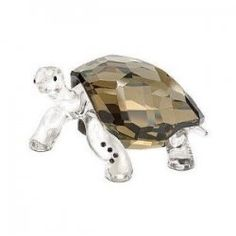 "Swarovski Colored Crystal Figurine GALAPAGOS TORTOISE EVENT 2010 #995036 Size: 2.5"" x 1.25"" New in original box"