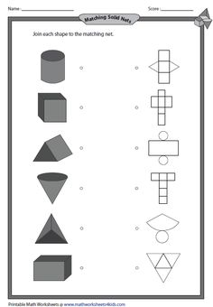 Try these printable shapes worksheets featuring exercises to recognize, compare and analyze the solid shapes and its properties. 3d Shapes Worksheets, Printable Math Worksheets, Alphabet Worksheets, Angles Worksheet, Number Worksheets, Niklas, Math Notebooks, 4th Grade Math, Math For Kids