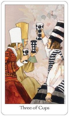 Dreaming Way Tarot - 3 of cups