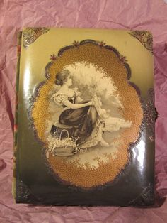 Victorian Celluloid and Velvet Photo Albums with Cabinet Card Photos