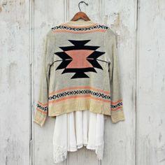 Smoke River Sweater in Peach