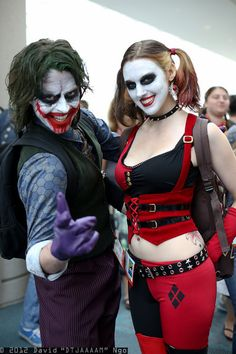 joker and harley quinn couple halloween costumes i finally know what im making - The Joker And Harley Quinn Halloween Costumes