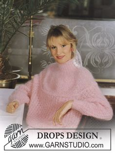 DROPS jumper in Vienna with raglan and pattern. Size S-M. Free pattern by DROPS Design.