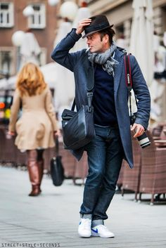 The I'm 'On the GO' look ? | P.S ~ A leather bag has a Man's  Work..World...($$,$$$) !n it :)
