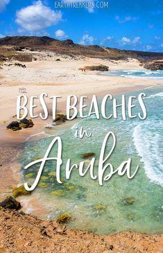 Top ten beaches in Aruba...Palm Beach, Eagle Beach, Arashi Beach, Boca Keto, and more. #aruba #caribbean #bestbeaches