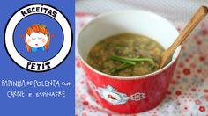 Papinha de polenta com carne e espinafre (Introdução alimentar) - RECEIT...