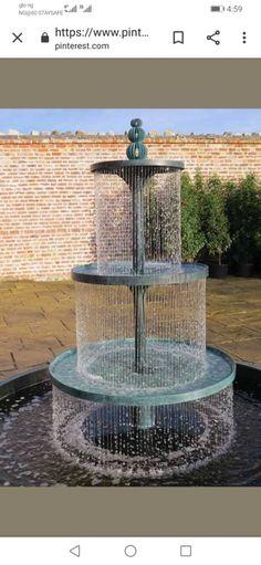 Backyard Water Fountains, Concrete Fountains, Garden Water Fountains, Backyard Water Feature, Water Garden, Outdoor Fountains, Fence Garden, Big Garden, Garden Boxes