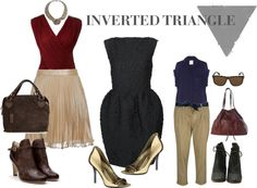 to inverted triangle or wedge body shape