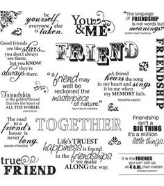 Fiskars Quotes Clear Stamps - Friends Forever: stamps: stamping: scrapbooking: Shop | Joann.com