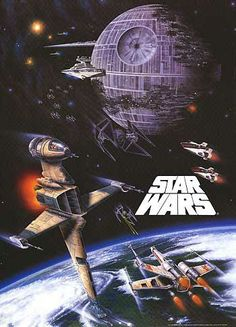 Star Wars: Episode VI - Return of The Jedi - Movie Poster: Space Battle (Size: 27 inches x 38 inches) [Accessory] Star Wars Film, Star Wars Poster, Nave Star Wars, Star Wars Episoden, Star Wars Ships, Tie Fighter, Star Wars Episodio Iv, Starwars, Le Retour Du Jedi